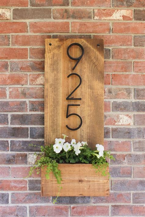 Address Plaques For Front Door - front doors 33 unique house number ideas that are easy to