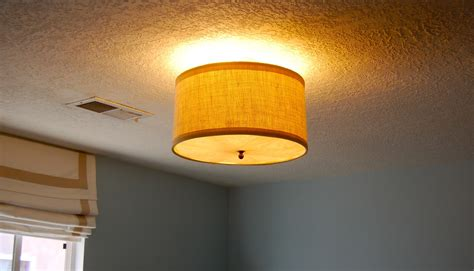 Diy Ceiling Light Cover Diy Drum Shade Ceiling Light Cover Home Lighting Design Ideas