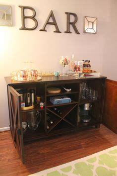diy liquor cabinet with mini fridge bowl mounted on a vintage shabby chic buffet