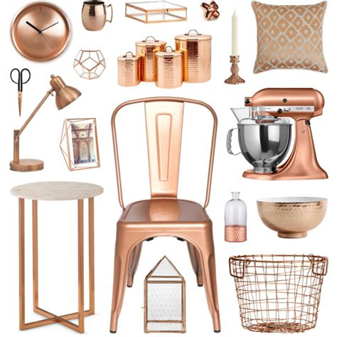 copper home decor polyvore