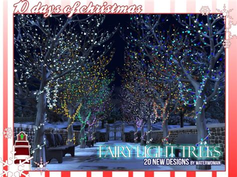 Fairy Light Trees by Waterwoman at Akisima » Sims 4 Updates