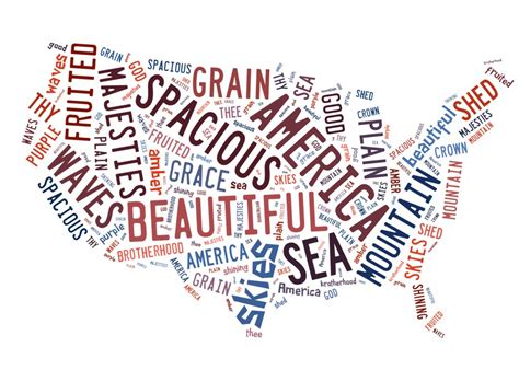 printable lyrics america the beautiful simple 4th of july mantle