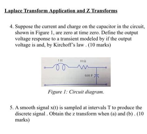 capacitor zero charge suppose the current and charge on the capacitor in chegg