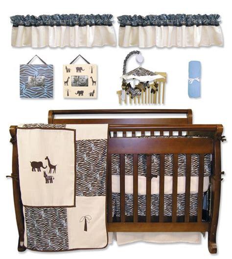 Sweet Safari Blue 10 Pc Crib Bedding Set 10 Pc Crib Bedding Sets