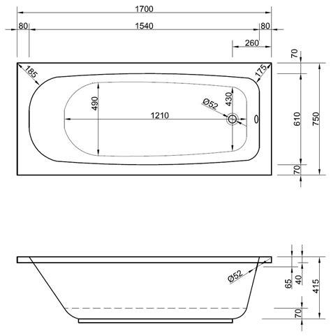 badewanne rechteckig rechteck badewanne 170 x 75 x 41 5 cm badewanne badewanne