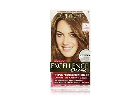 6g hair color l oreal excellence creme hair color 6g light golden brown
