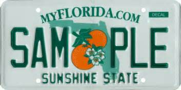 florida dhsmv state license plate design