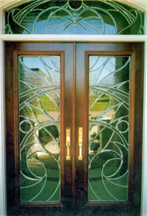 Glass Doors Houston Glass By Contemporary Custom Leaded Glass Front Entry Doors In Houston