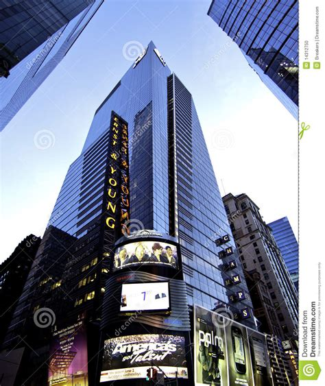 Ey Nyc Office by New York Manhattan Big Accounting Firm Editorial Image