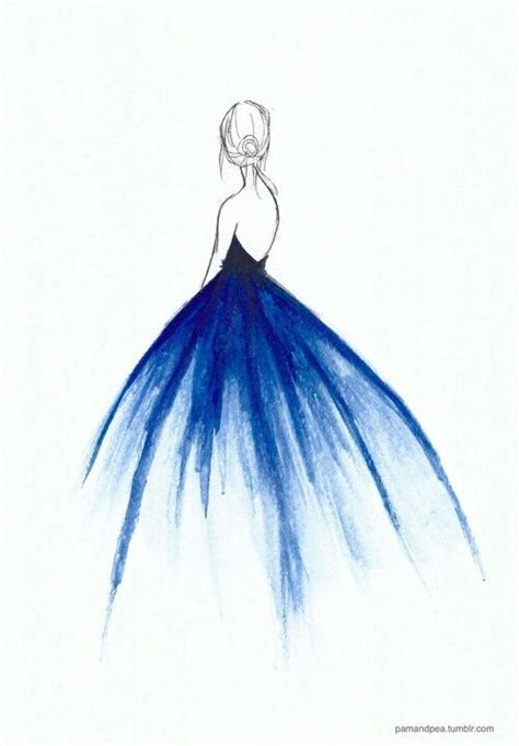 watercolor dress tutorial 25 best ideas about pencil drawings on pinterest