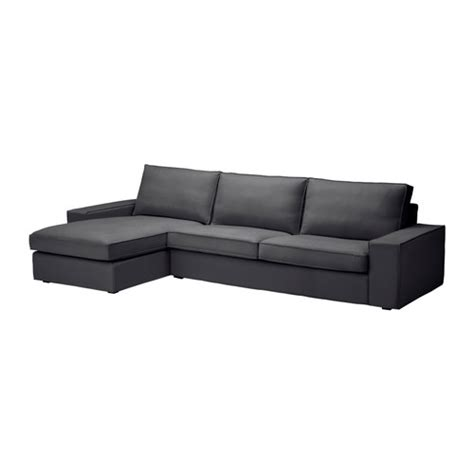 gray couch with chaise kivik sofa and chaise lounge dansbo dark gray ikea