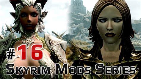 tera hair skyrim mod skyrim mods series 16 tera hair armor castanic elin capes dragon priest armor youtube