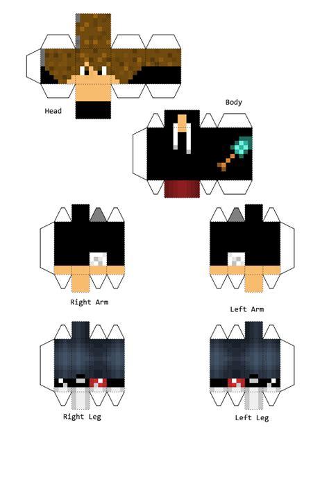 Minecraft Papercraft Generator - skin de luzu paper crafts
