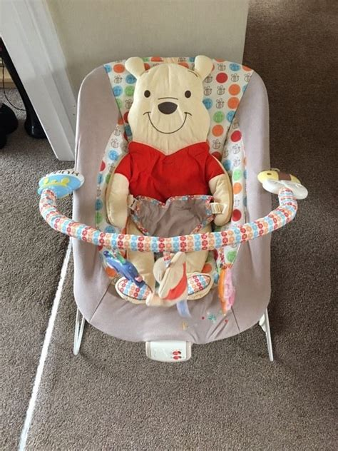 winnie the pooh bouncy chair winnie the pooh bouncer chair in plymouth gumtree