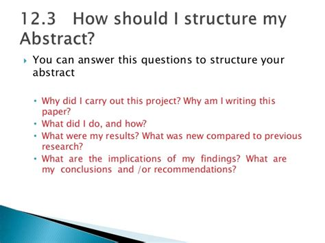 How To Make Paper Presentation Abstract - chapter 12 abstract for writing research papers