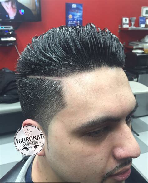 4 guard haircut dark fade with 3 guard light tapered sides back with