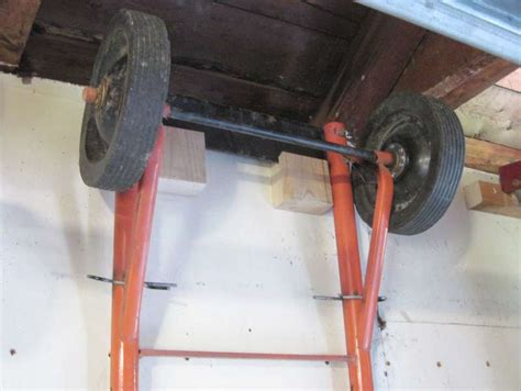 Shed Moving Dollies by Garage Storage Ideas