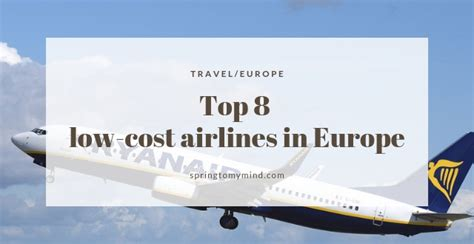 top 8 low cost airlines in europe for cheap and comfortable flights