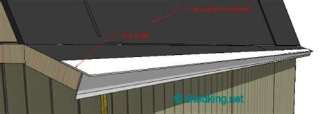 Shed Roof Drip Edge by Adding Roofing Felt Paper And Drip Edge Shed