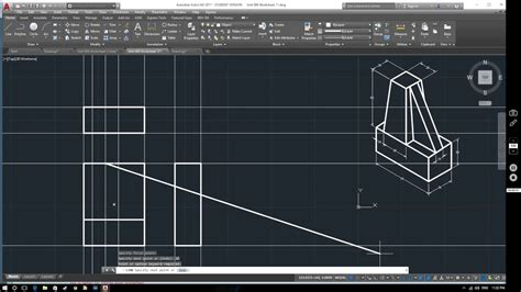 tutorial autocad 2017 autocad 2017 tutorial orthographic layouts youtube