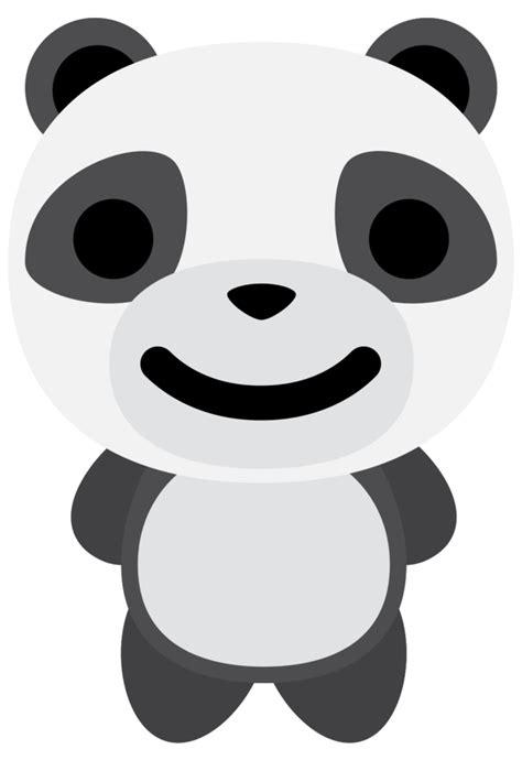 Free Emoji panda smile PNG with Transparent Background