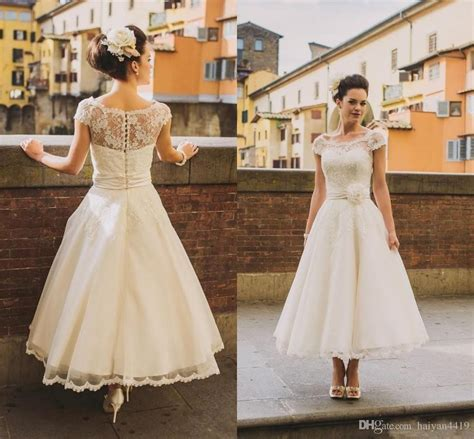 Vintage 50 S Wedding Dresses by 50s Style Retro Vintage Wedding Dresses 2016 Illusion Neck
