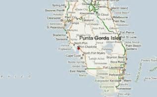 Punta Gorda Florida Map by Punta Gorda Isles Location Guide