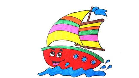 cartoon boat youtube how to draw boat kids drawing video learn to draw