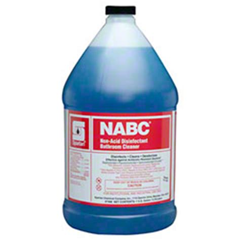 Non Acid Disinfectant Bathroom Cleaner spartan nabc 174 non acid disinfectant bathroom cleaner gal