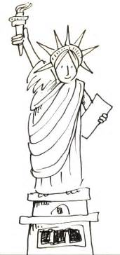 statue of liberty drawing template statue of liberty drawing easy new calendar template site