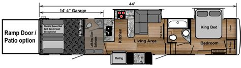 fifth wheel toy hauler floor plans toy hauler 5th wheels