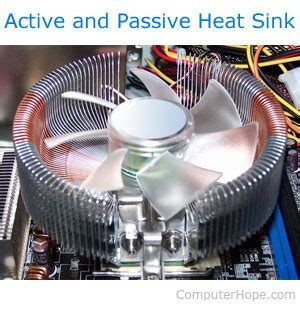 what does a heat sink do computer processor terms