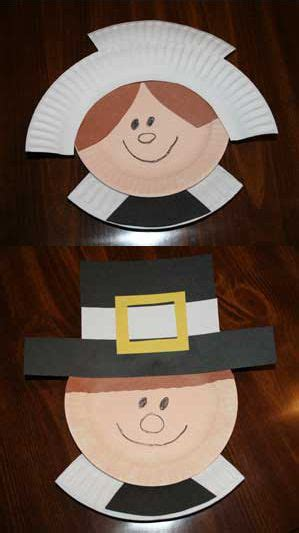 pilgrim paper plate craft a thanksgiving craftacular for creative crafts for