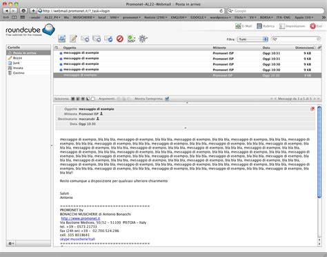 posta web web mail posta web promonet