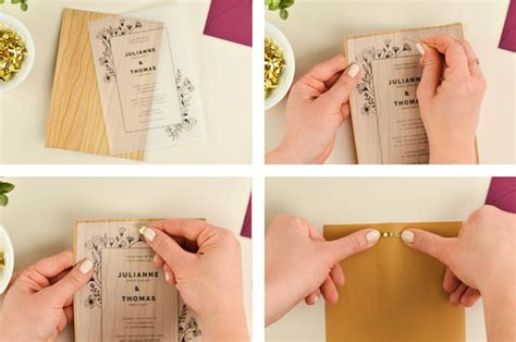 Printed Wedding Invitations Velum 4 ways to diy vellum wedding invitations cards