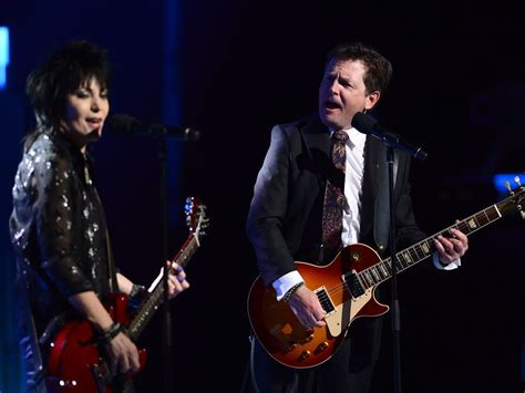 michael j fox and joan jett movie watch michael j fox rock out with joan jett onstage at gg