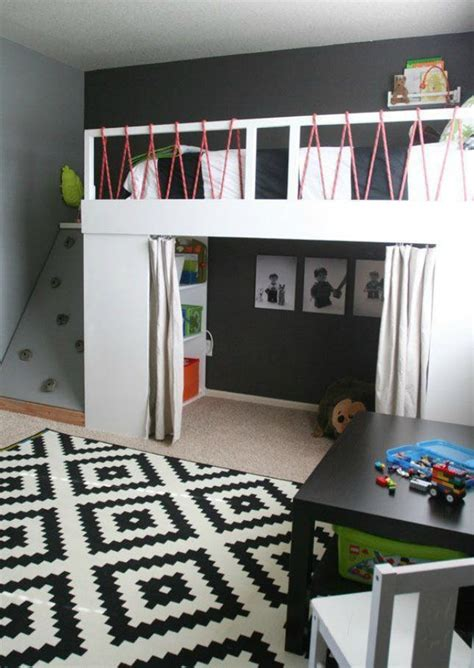 how to make a small kids bedroom look bigger 16 loft beds to make your small space feel bigger brit co
