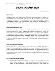 Dowry System In India Essay dowry system in india essay