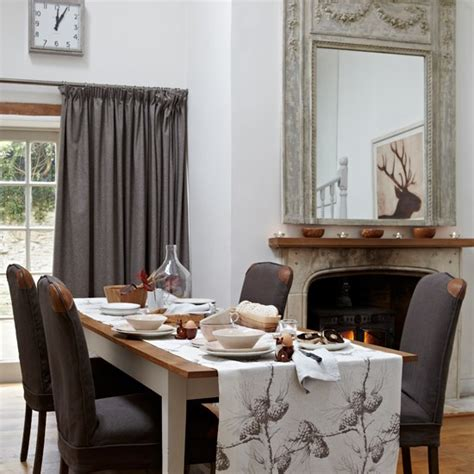 Brown And White Dining Room white and brown country dining room housetohome co uk