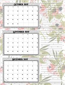 quarterly calendar template free printable 2017 quarterly calendars 2 different designs