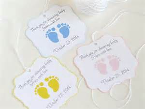 Labels For Favors by Baby Custom Baby Shower Favor Tags Footprint Baby Shower