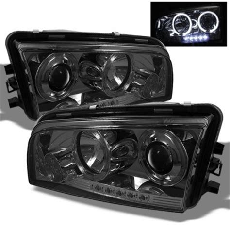 2009 dodge charger smoked halo projector headlights