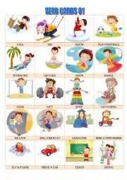 Flash Cards Pdf English Worksheet Verb Cards 01
