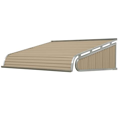 solid awnings shop nuimage awnings 40 in wide x 36 in projection sandalwood solid slope door awning