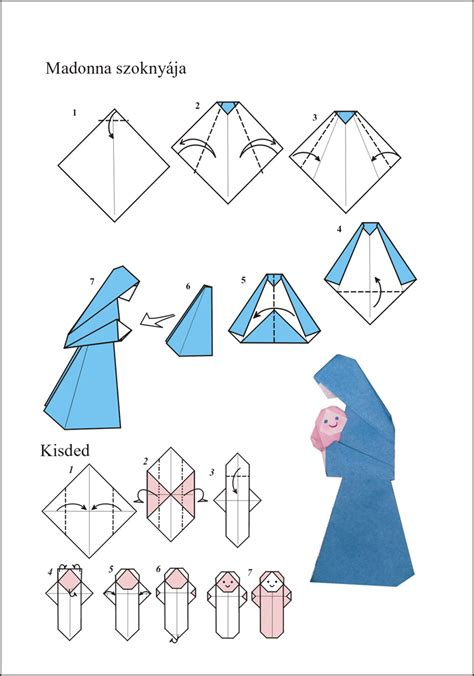How To Make An Origami Nativity - easy origami nativity comot