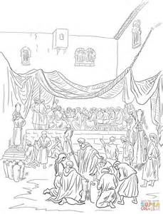 Wedding Of Cana Children S Version by The Marriage Feast At Cana Coloring Page Free Printable