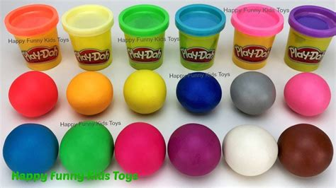 play doh colors learn colors play doh balls rooster lobster fish fruit