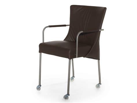sedia con ruote sedia imbottita in cuoio con braccioli con ruote