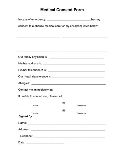 best photos of medical treatment consent form template