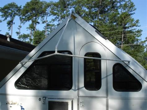 aliner awning awning made from a tarp cer pinterest